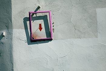 Cadre vide pour tableau minimaliste fl che for Tableau minimaliste